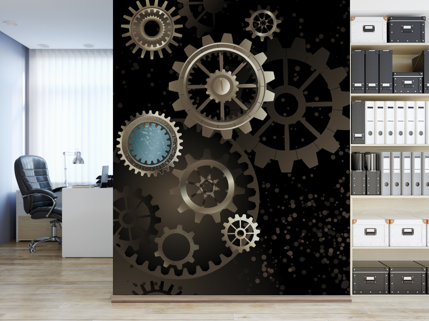 Commercial Office Space Digital Printed Vinyl Decorative Wallpaper Mockup 1 by Digital Marching FX DMFX Eric Sabach